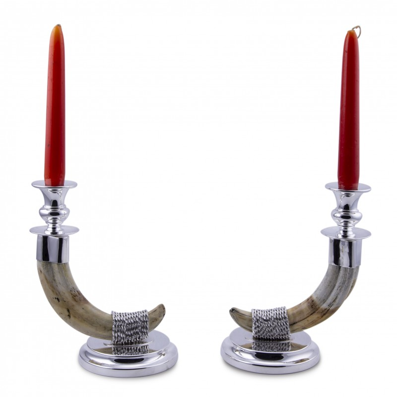 Warthog candlesticks